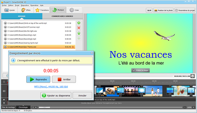 Comment faire un film avec des photos smartshow 3d - Comment faire un diapo avec open office ...