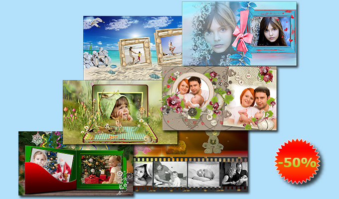 Family collection of slideshow templates