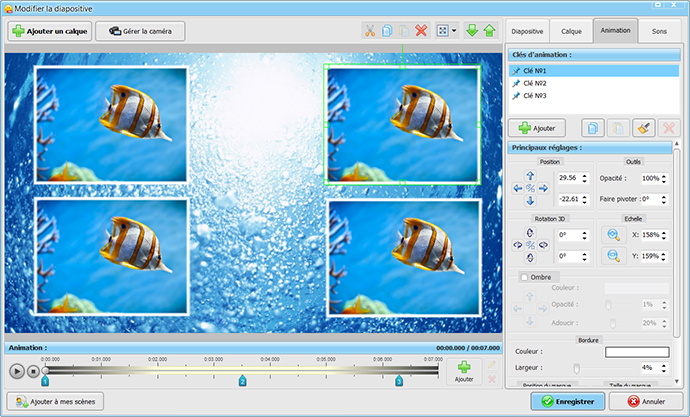 Slide animation editor